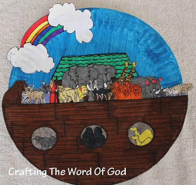 Noah crafting the word of god for The ark of craft