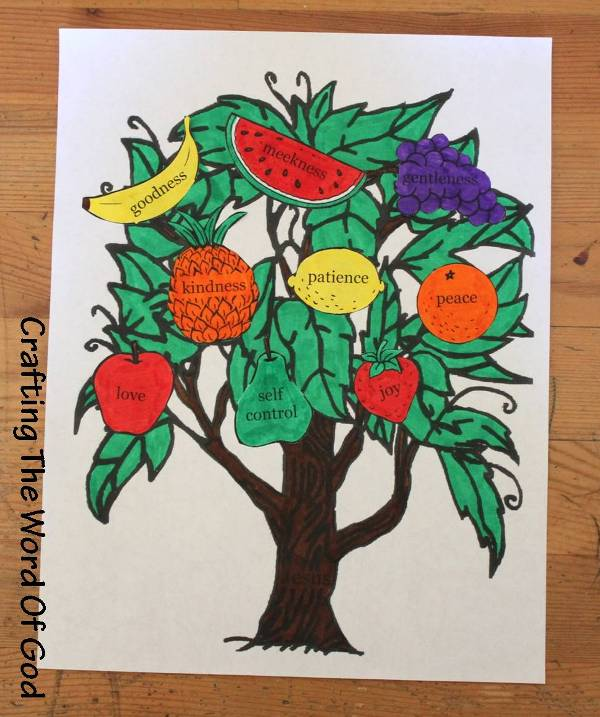 Fruit of the spirit crafting the word of god for Fruit of the spirit goodness craft