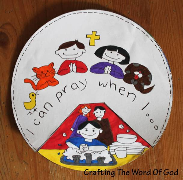 Prayer crafting the word of god for Peace crafts for sunday school