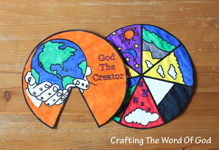 creation craft ideas for creation story days of creation wheel 171 crafting the word of god 7649