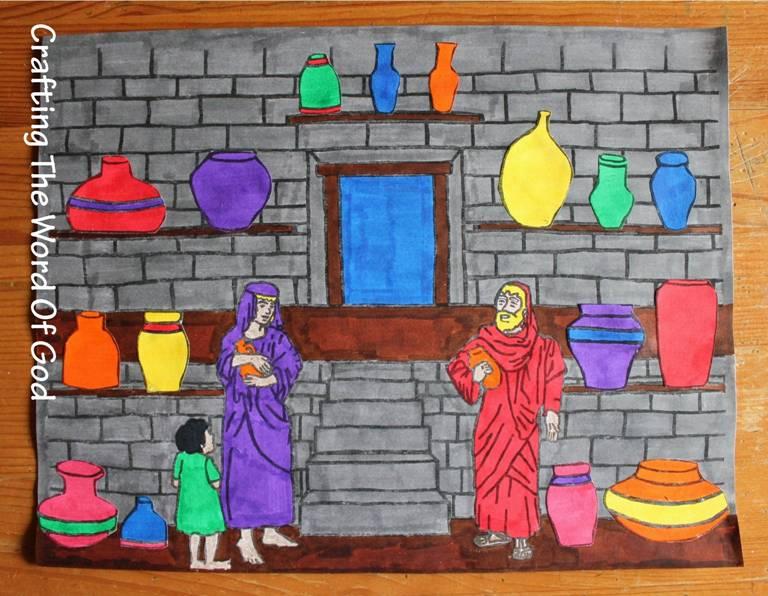 Elijah And The Widow S Jars Craft