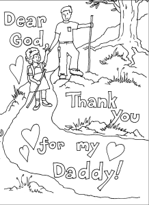 Fathers Day Coloring Page 2