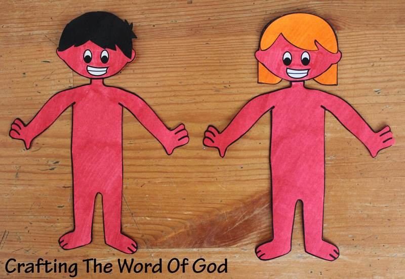 Adam and eve crafting the word of god - Manualidades en carton ...
