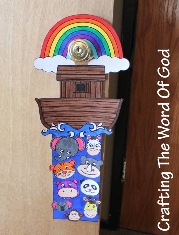 Noahs Ark Doorknob Hanger Crafting The Word Of God