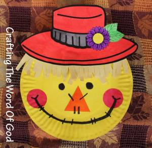 Thanksgiving Paper Plate Scare Crow