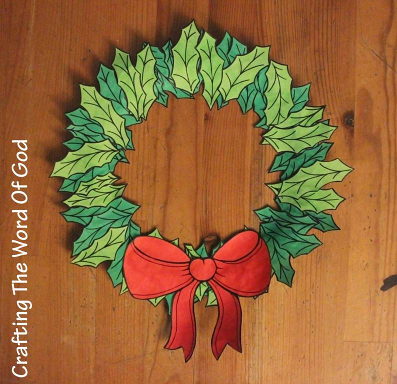 Christmas wreath « Crafting The Word Of God