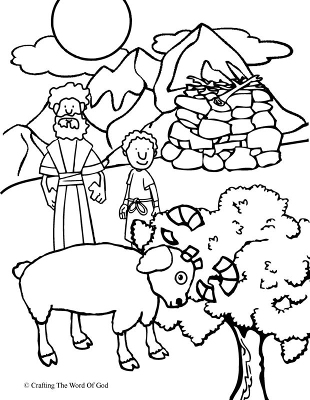 Abraham Offers Isaac Coloring Page Crafting The Word Of God