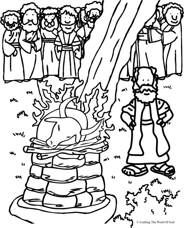 elijah coloring pages - elijah and the prophets of baal coloring page crafting