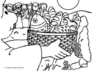 Feeding The Multitude- Coloring Page « Crafting The Word Of God
