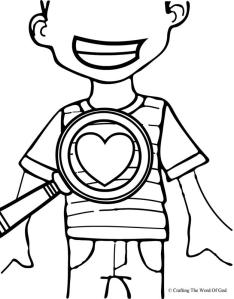 God Searches Hearts Coloring Page
