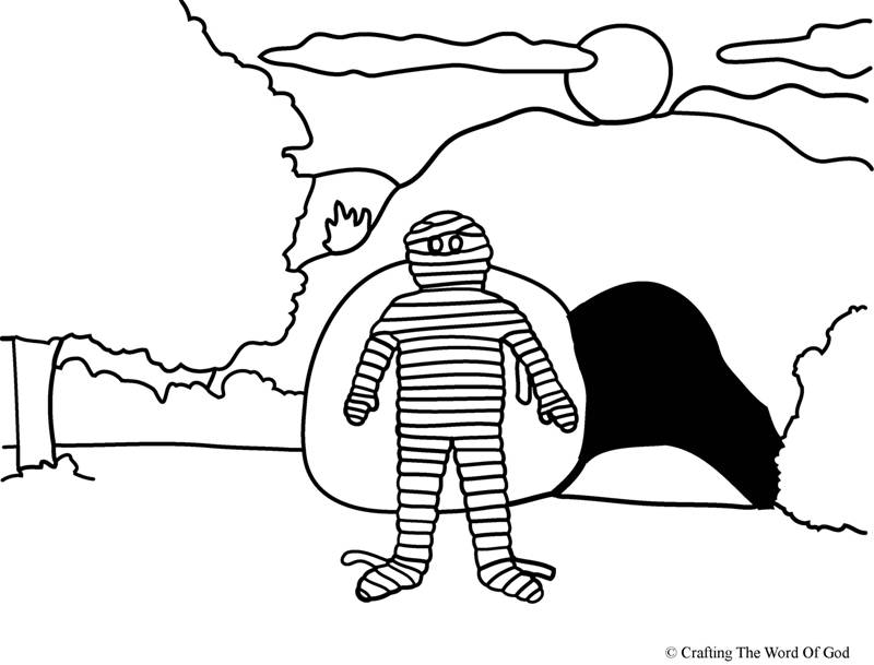 Lazarus Raised From The Dead Coloring Page Crafting The