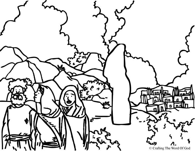 Lots wife coloring page crafting the word of god sodom and gomorrah preschool craft Lot's Wife Bible Abram and Lot Coloring Page