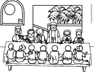 The Lords Supper- Coloring Page « Crafting The Word Of God