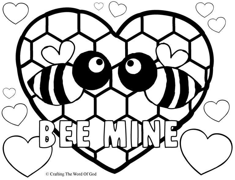 Bee mine coloring page crafting the word of god for Bees coloring pages