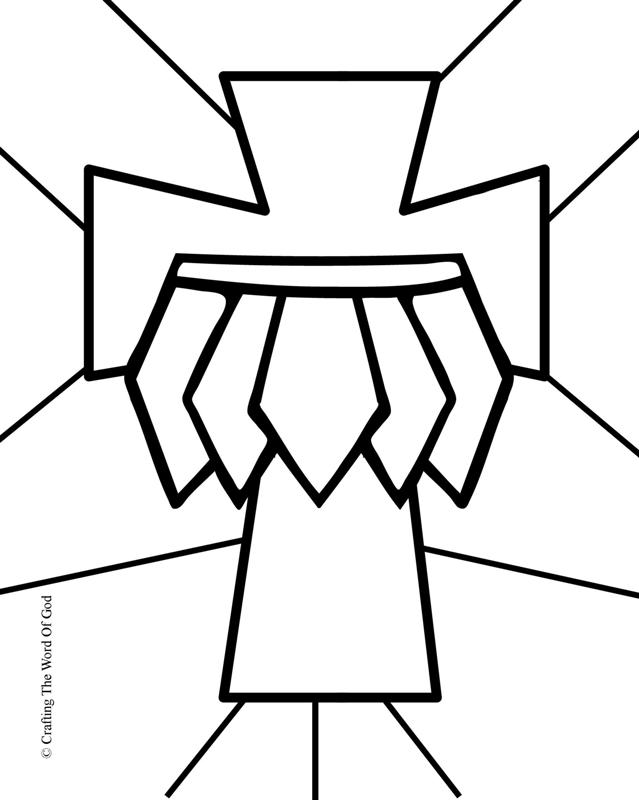 belt coloring page - belt of truth crafting the word of god