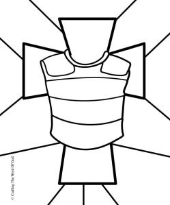 Breastplate Of Righteousness- Coloring Page « Crafting The