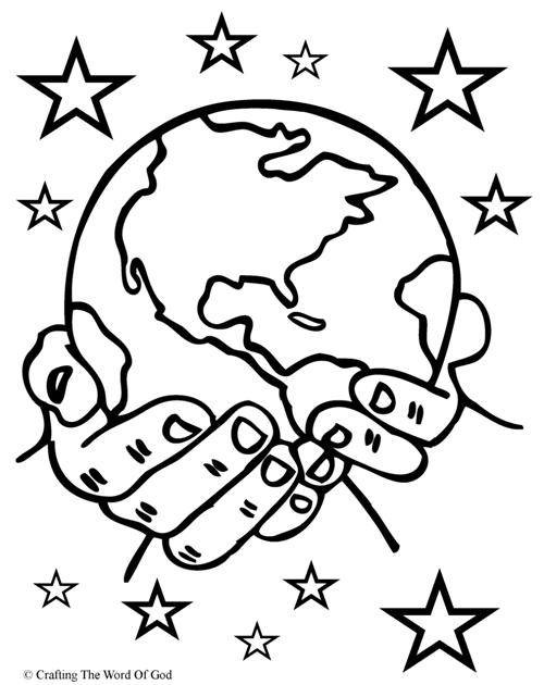 Coloring Page God Is The Creator  Days Of Creation