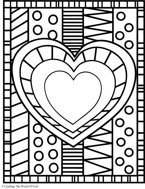 Heart Coloring Page Crafting The Word Of God