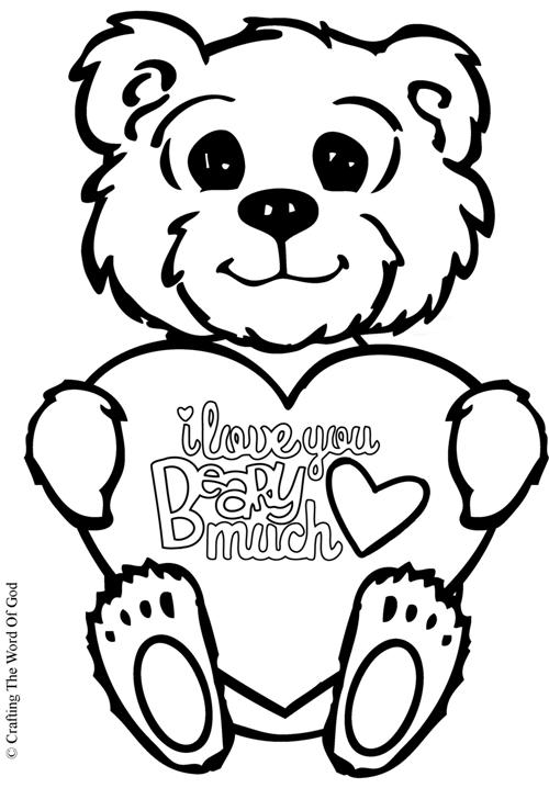 Love You Beary Much- Coloring PageI Love You So Much Coloring Pages