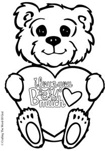 I Love You Beary Much Coloring Page