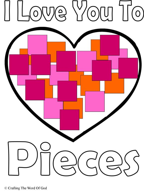 i love you to pieces craft i you to pieces 171 crafting the word of god 7793