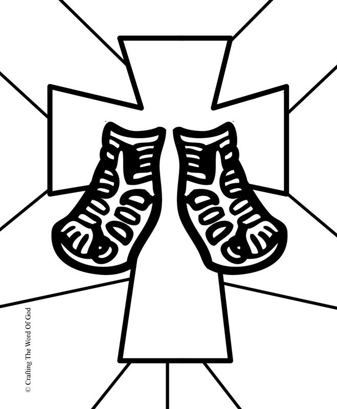 god s word coloring page - sandals crafting the word of god