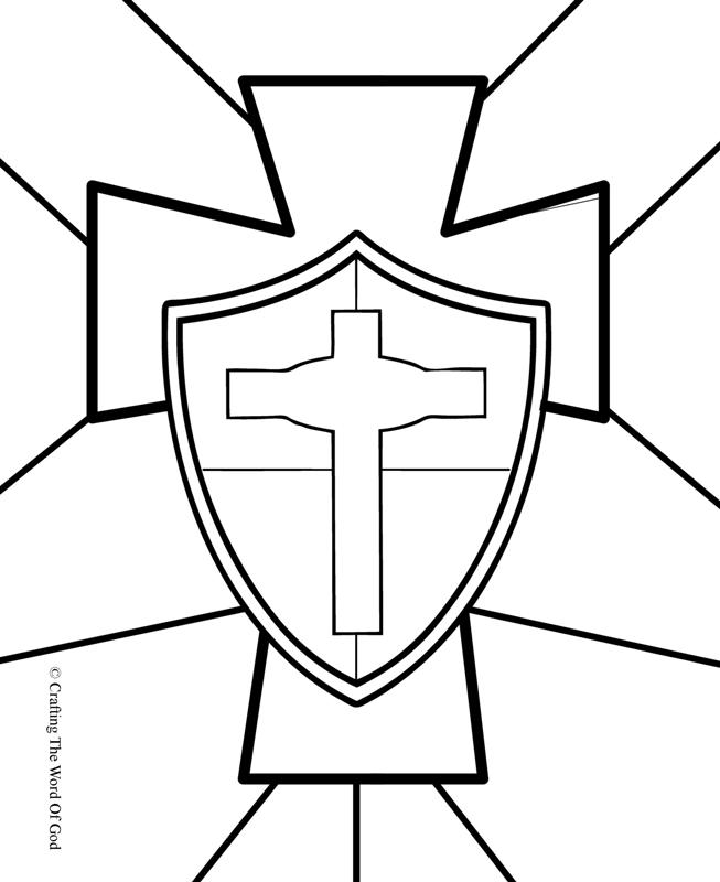 Armor Of God 171 Crafting The Word Of God God Is My Shield Coloring Page