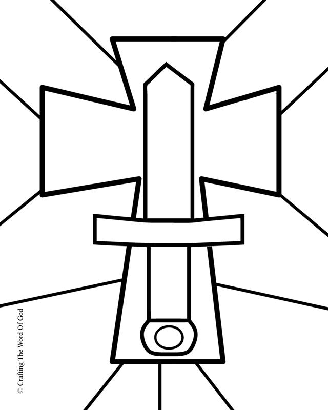Sword of the spirit crafting the word of god for Coloring pages sword