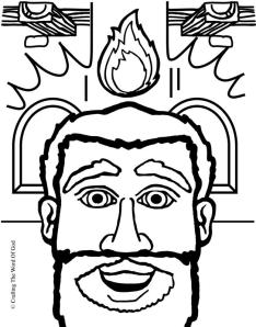 The Day Of Pentecost Coloring Page