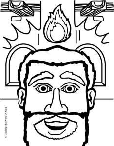 Holy spirit crafting the word of god for Pentecost coloring pages