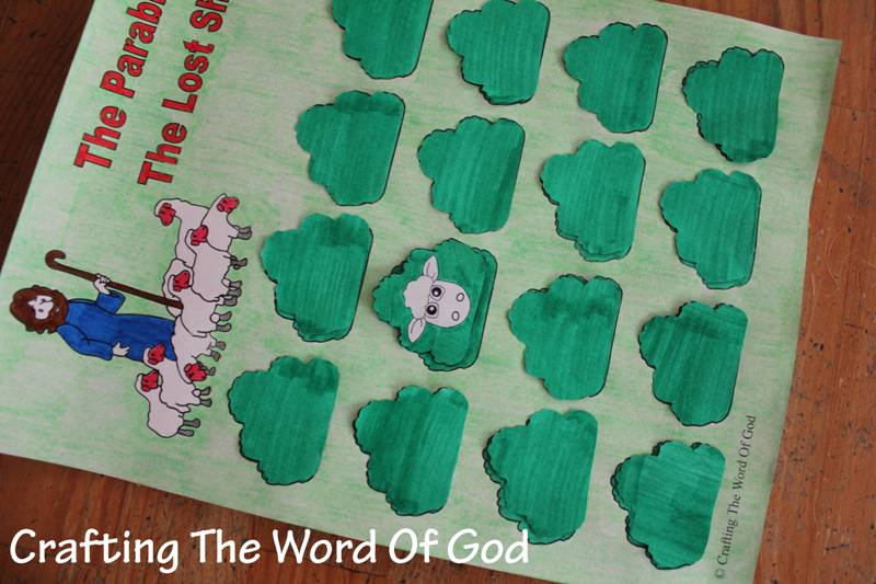 Kids Lesson About The Lost Sheep Craft Ideas