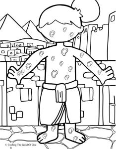 The Plague Of Boils Coloring Page