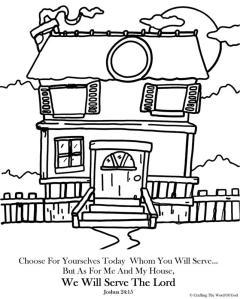 We Will Serve The Lord Coloring Page