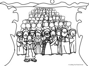 Crossing The Red Sea- Coloring Page « Crafting The Word Of God