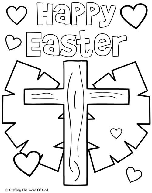 Happy Easter 3- Coloring Page « Crafting The Word Of God