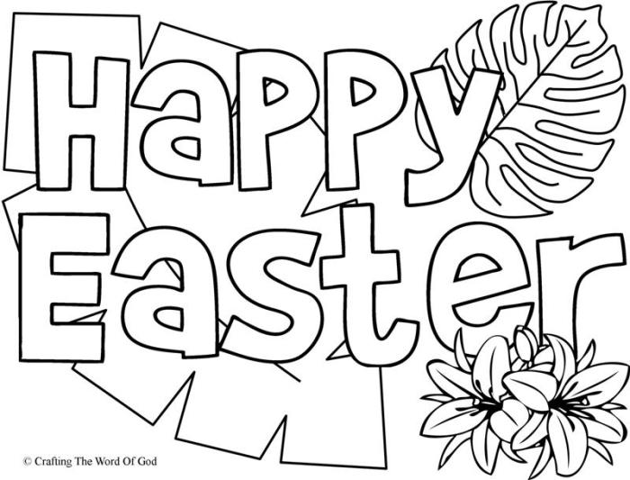 happy easter 1 coloring page crafting the word of god
