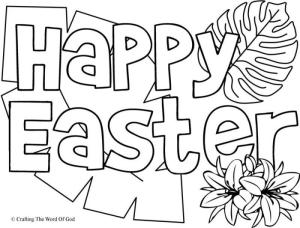 Happy Easter 1- Coloring Page « Crafting The Word Of God