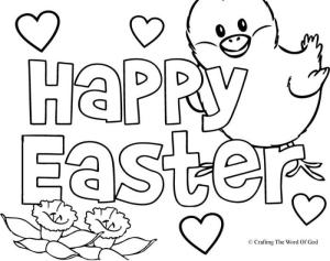 Happy Easter 2- Coloring Page « Crafting The Word Of God