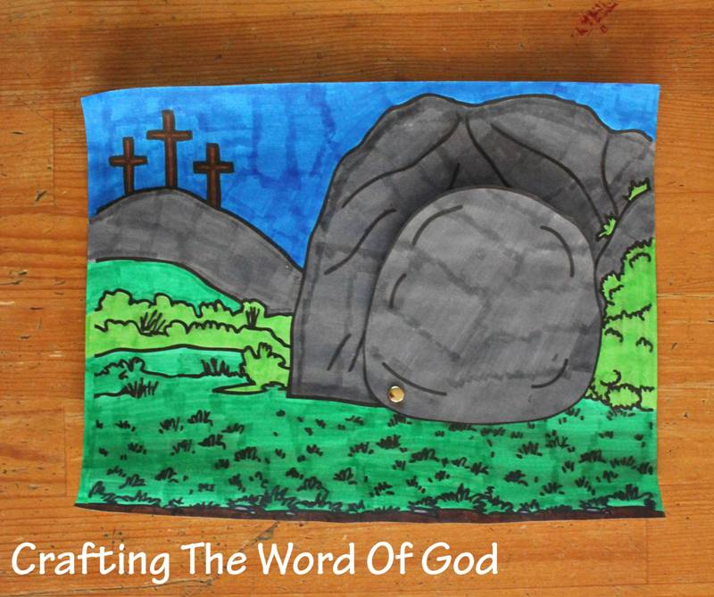 Empty tomb crafting the word of god for Jesus is alive craft ideas