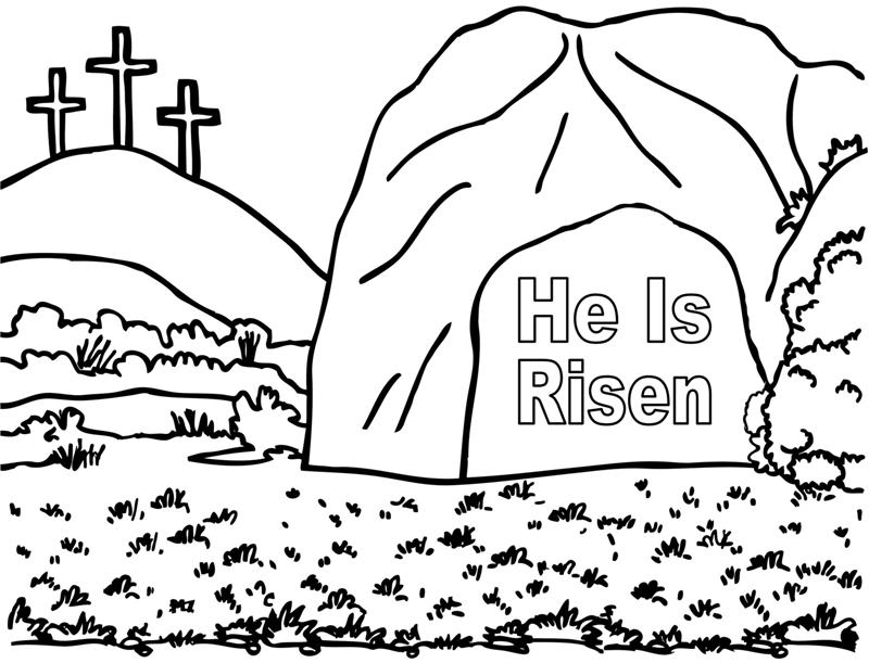 He Is Risen Coloring Page Crafting The Word Of God