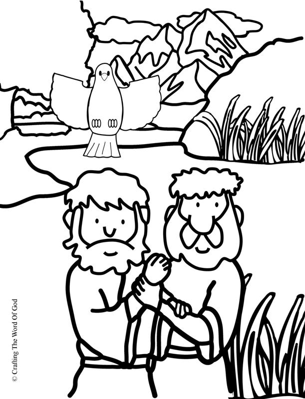 baptism coloring pages printables - jesus baptism coloring page crafting the word of god