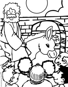 Jesus Enters Jerusalem Coloring Page