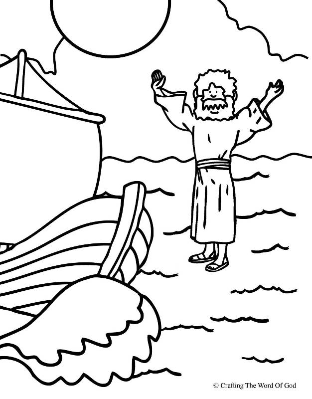 jesus walks on water coloring page « crafting the word of god