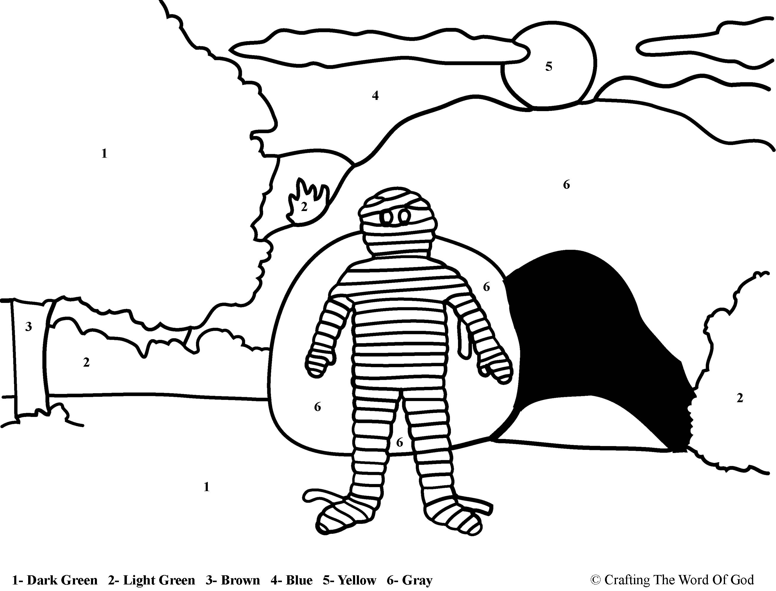 lazarus printable coloring pages - photo#34