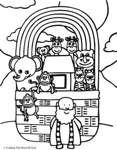 Noahs Arks Coloring Page