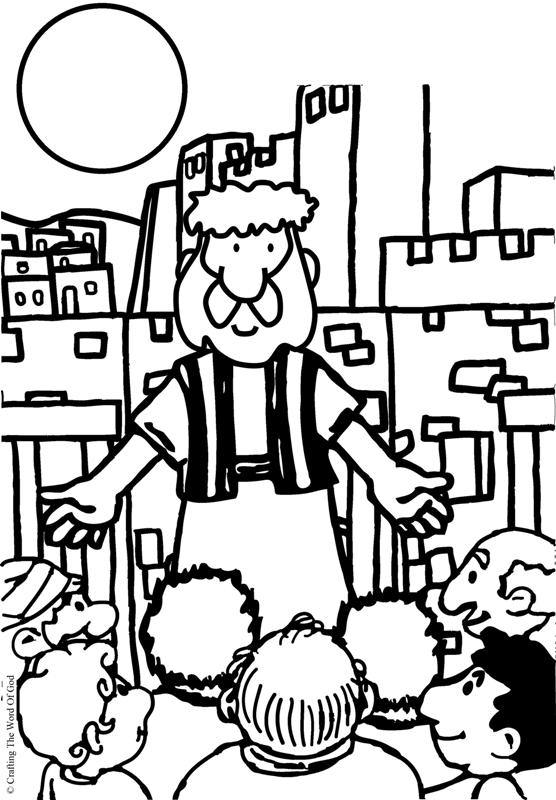 Peters First Sermon- Coloring Page « Crafting The Word Of God
