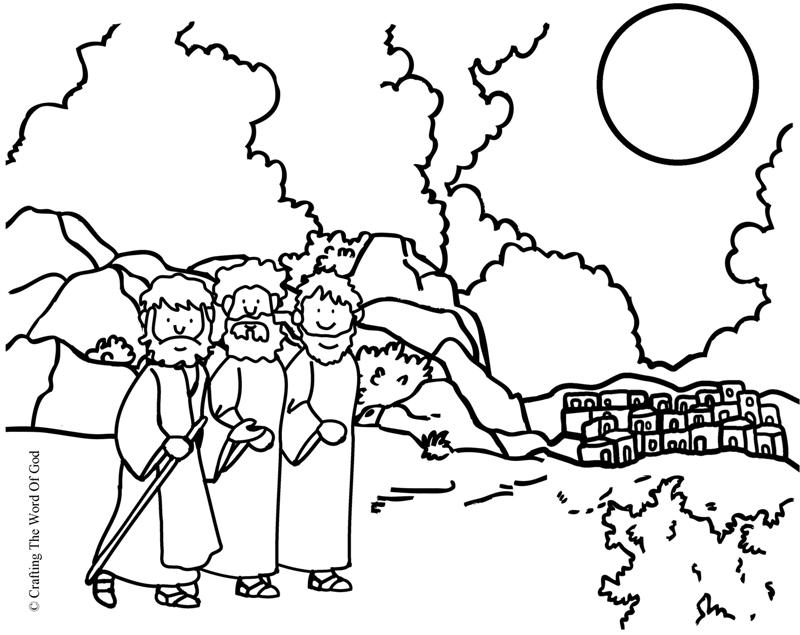 Road To Emmaus Coloring Page Crafting The Word Of God