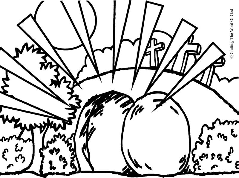 The Empty Tomb Coloring Page