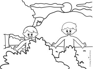 Adam and eve coloring page crafting the word of god for Adam eve coloring pages