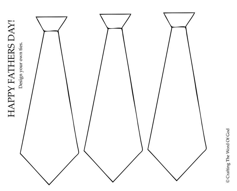 Design Your Own Ties Activity Sheet Crafting The Word Of God